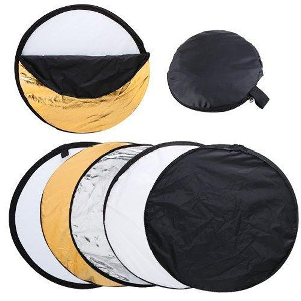 "80cm 32"" 5 in 1 Portable Studio Photography Lighting Light Mulit Collapsible disc Reflector"