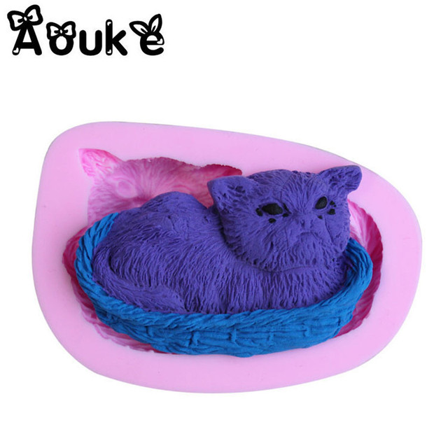 3D Kitten Cake Silicone Mold Cookie Embossed DIY Cake Kitchen Baking Molds Decoration Fondant Chocolate Pudding Tools