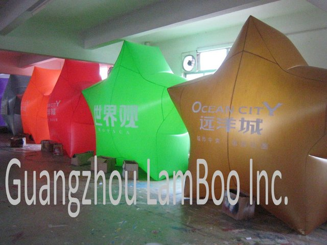 2012 HOT Inflatable Helium Stars Pentagram Balloon for Your Event/ Other Shape also can be made/Free Shipping