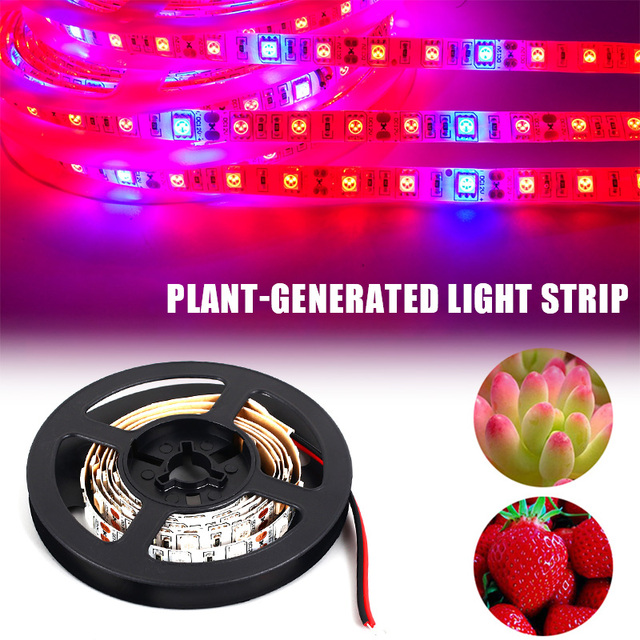 1-4M 240LED Light Strip Grow Lamp Full Spectrum 5050 Chip LED Fitolampy Grow Lights For Hydroponic Vegetables Greenhouse Plant