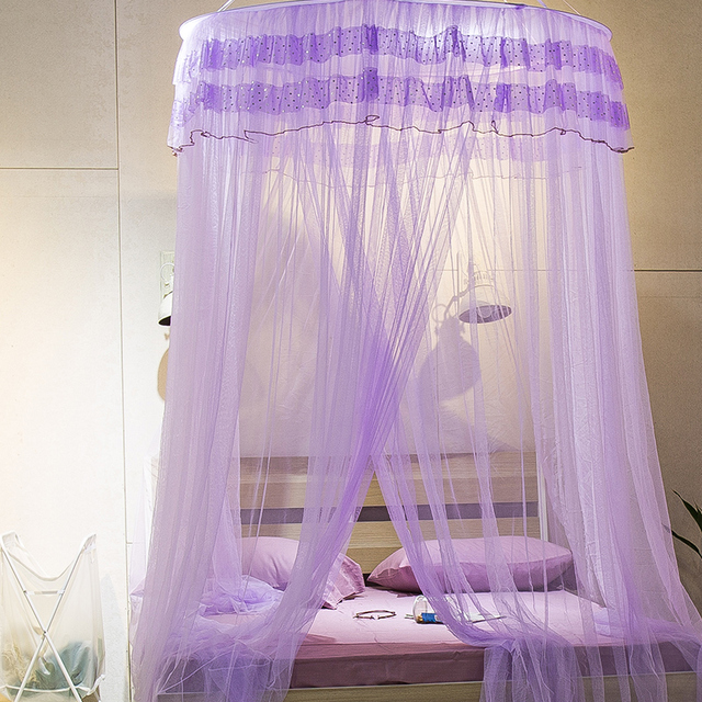 Summer Mosquito net king size bed net Hung Dome bed princess dot Freshness BUG prevent CURTAIN Lace big size 100*270*900cm Adult