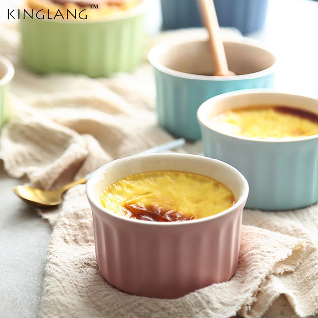 Ceramic Souffle baking cup mini mold oven special baking  pudding bowl
