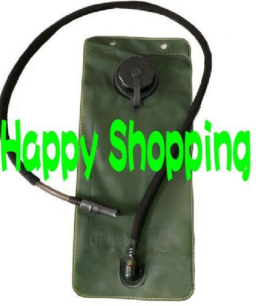 2.5L Green hydration water bladder pouch reservoir with black cap