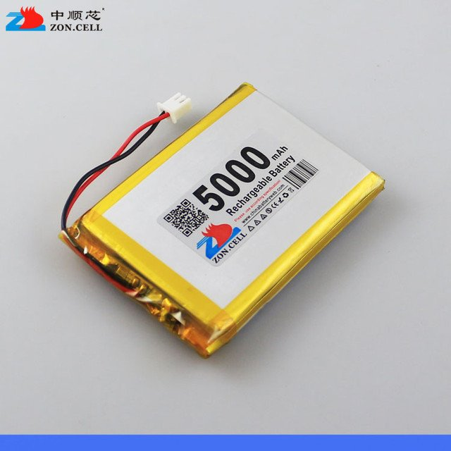In the 5000mAh 554858*2 3.7V mobile power charging treasure polymer lithium battery 505060*2 Rechargeable Li-ion Cell