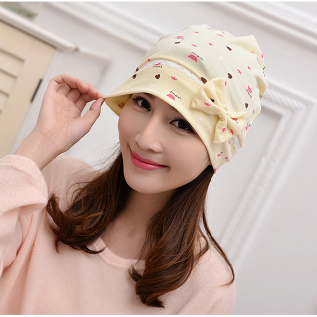 Maternal Hat Windproof Cap Pregnant Hat Lovely Maternity Hats Cotton Pregnant Postpartum Breathable Accessories