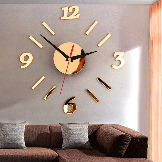 3D Clock Wall Clock Creative Acrylic DIY Livingroom Interior Design Home Decor