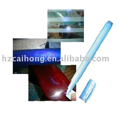 invisible ink pen,UV textile pen--ideal for anti-counterfeighting use,free shipping to part area