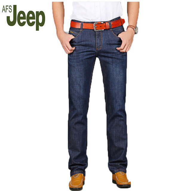 AFS JEEP 2016 new men's casual fashion jeans large size business casual long pants straight jeans Hot 77