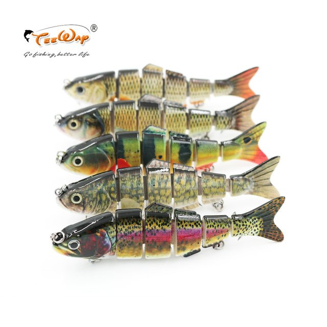 12.5cm 25g 6-segement Isca Artificial Pike Lure Muskie Fishing Lures Swimbait Crankbait Hard Bait Fishing Accessory