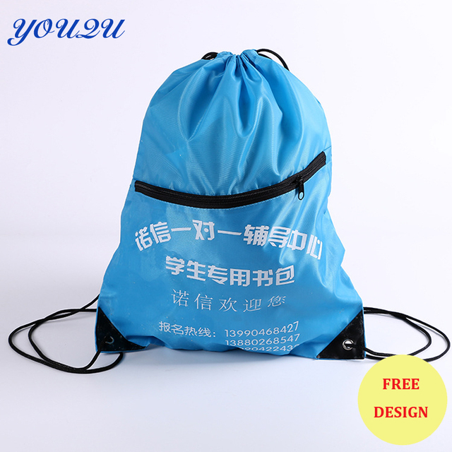 Polyester Bag with zipper Polyester bag with silk printing Polyester tote bag