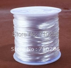 Beading wire string,100 metres/Roll of strong and stretchy White Elastic Bead Wire