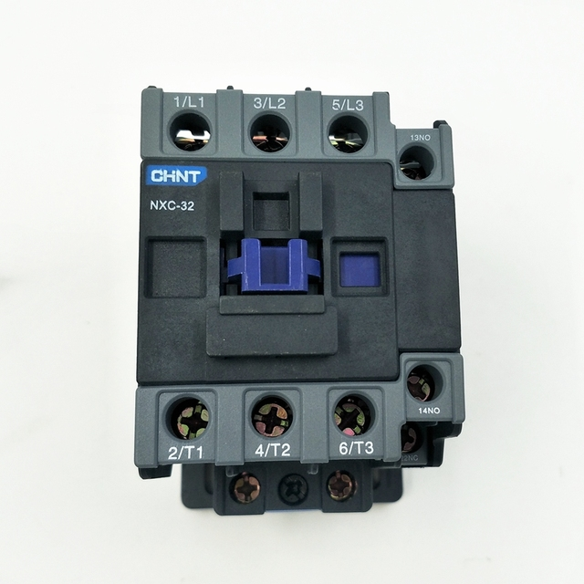 NEW CHINT NXC-32 1NO+1NC AC Contactor  32A  Coil Voltage 380V  220V  110V 36V 24V AC Contactor Replace CJX2-3201 And CJX2-3210