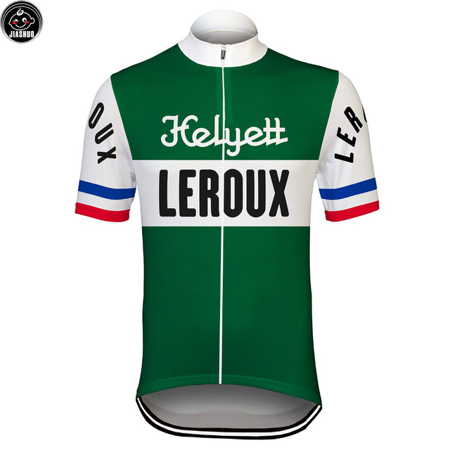 Green Classical Retro NEW Pro Team Bike Cycling Jersey Breathable Customized Jiashuo Road Mountain
