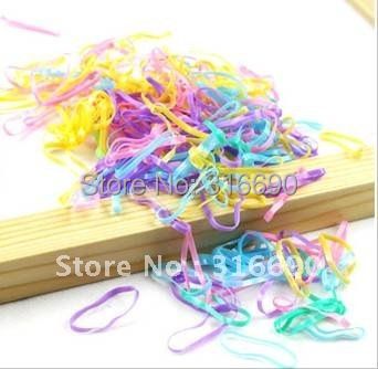 Free shipping Mixed Elastic Hair Rubber Bands Ponytails Braids1000pcs/lot