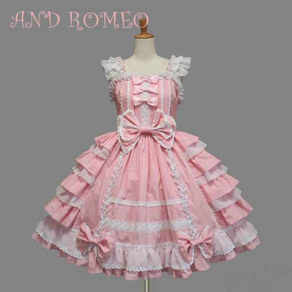 Hot Sale Sweet Gothic Lolita Dress Japanese Sleeveless Bowknot Dresses Cute Women Girl Ladies Halloween Party Cosplay Costume
