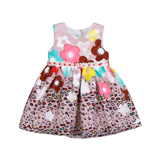 Summer Baby Girls Floral Dress Girl Costume Kids Cotton Princess Birthday Party Dresses Fashion Girl's Dress for Wedding 2-67Yrs
