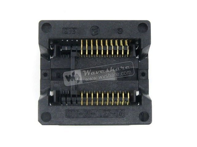 SOP20 SO20 SOIC20 OTS-20(28)-1.27-04 Enplas IC Test & Burn-in Socket Programmer Adapter 7.5mm Width 1.27mm Pitch