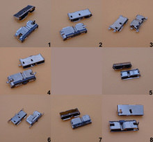 8pcs/lot 8 models Micro USB 3.0 10P female connector SMT/DIP/ Vertical USB socket PCB Solder for laptop phone HDD Widely Using
