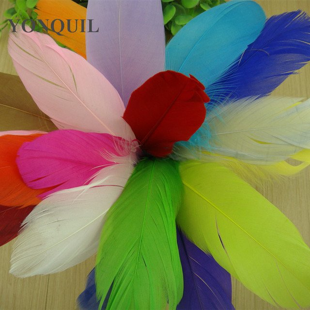 300 Pcs DIY Natural Fluffy goose Feathers 19 colors home Christmas Cosplay decoration clothing shoes hat DIY hair accessories