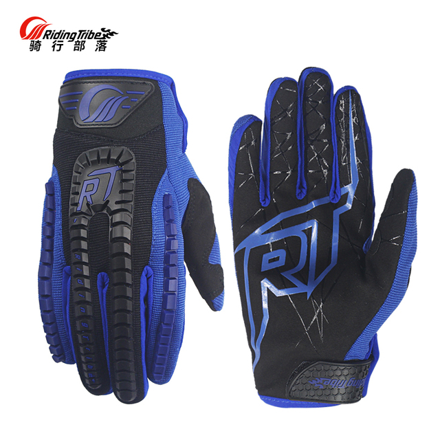 Motorcycle RT Racing Gloves Motocross Touch Screen Anti-slid Full Finger Guantes Moto Electric Bike Gloves