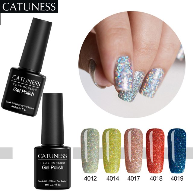 CATUNESS Long Lasting Hybrid Gel Varnish Lucky Colorful Neon Nail Gel Polish Semi-Permanent High Quality Uv Nail Gel