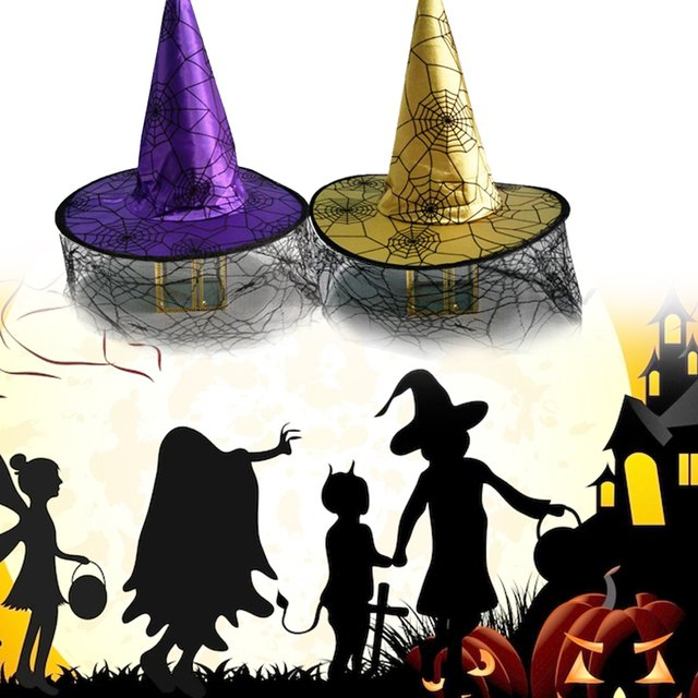 Nonwoven Fabric Hats Witch Hat Wizard Hat Cute Beautiful Halloween Decor Costume Party