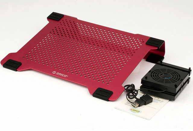 ORICO NCA-1513-RD Full Aluminum USB MAC Laptop Cooling Pad for 14inch laptop or below with 2 removable DIY flexible 80cm fans