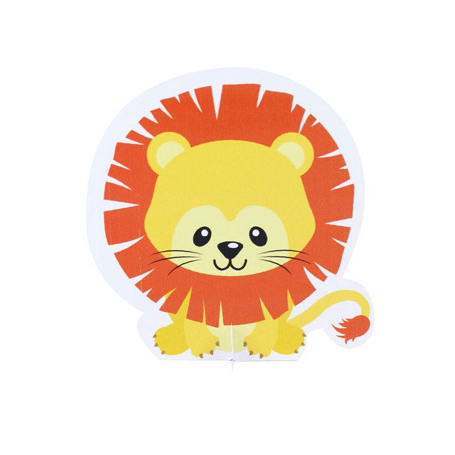 Safari Animal Party Table Decoration Lion Table Centerpiece Kids Birthday Party Supplies Decoration Baby Shower Decoration