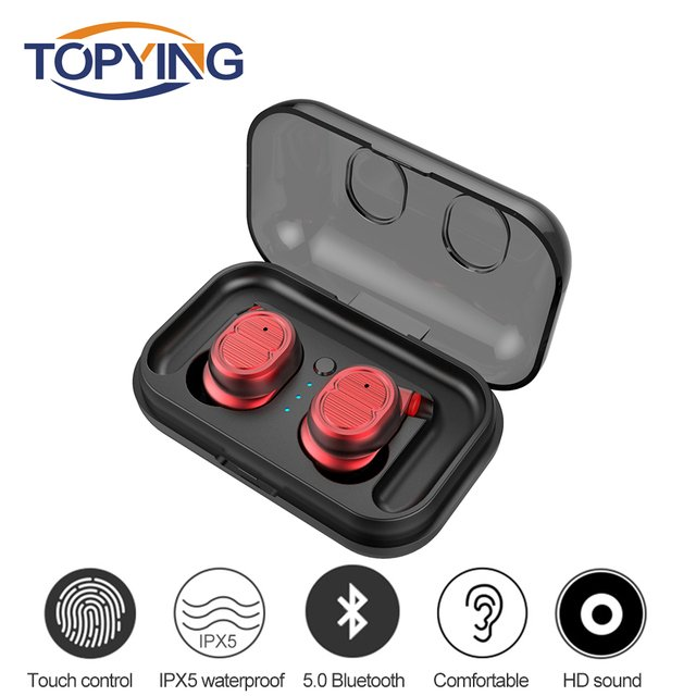 Professional Waterproof Touch True Wireless Headphone TWS-8 Mini Bluetooth Earphone Earpiece with Charging Box for iphone