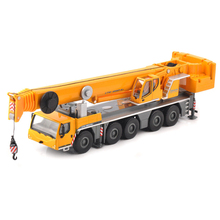 Kids Toys for children 1:87 Yellow 1/87 LTM 1250-5.1 Car Model Toy Alloy Vehicle Lifting Crane Construction Truck Collection