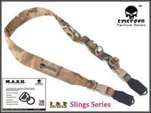 EMERSON tactical gun sling L.Q.E One + Two Point Slings Series с MASH hook rifle sling EM8490 Multicam Black