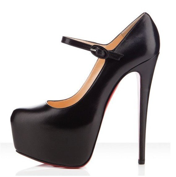 Classical  Daffodil 160mm Simple Black skin Platform Pumps,Two Color of high heels,Wedding shoes
