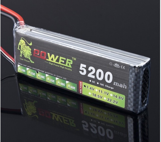 Lion Power 7.4V 5200mAh 30C - 40C 2S Battery LiPoli 7.4V 5200mAh 30C 2S1P Akku Batterie