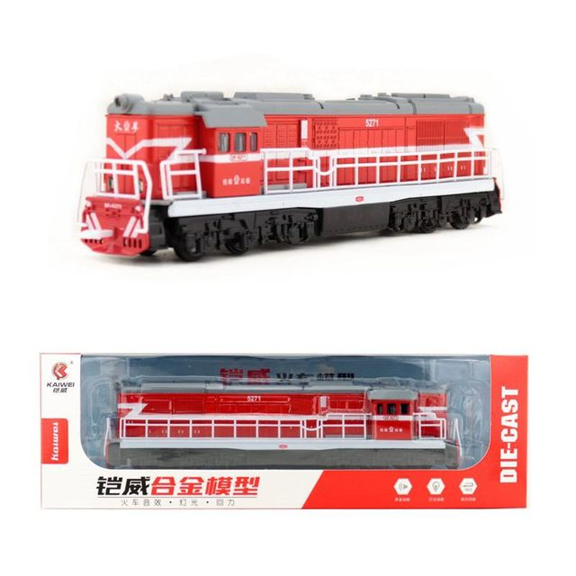 Diecast Metal Toy/Sound & Light Pull back Car/Classical DongFeng Locomotive Train/For children's gift or collection