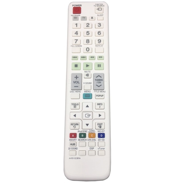 Remote Control AH59-02381A For SAMSUNG 2.1CH Blu-ray Home Entertainment System HT-D7200B HT-D7200