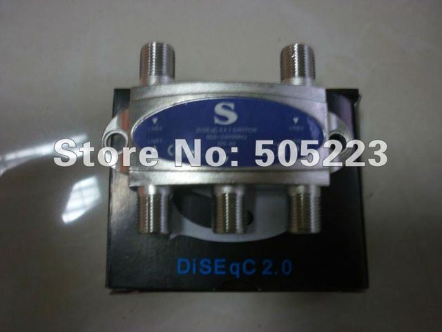 100pc/lot  good quality superMax DiSEqC 4 x 1 Switch for satellite receiver free ship by dhl