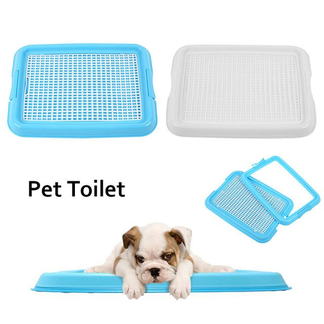 Portable Pet Dog Indoor Restroom Training Potty Pee Toilet Fence Tray Pad