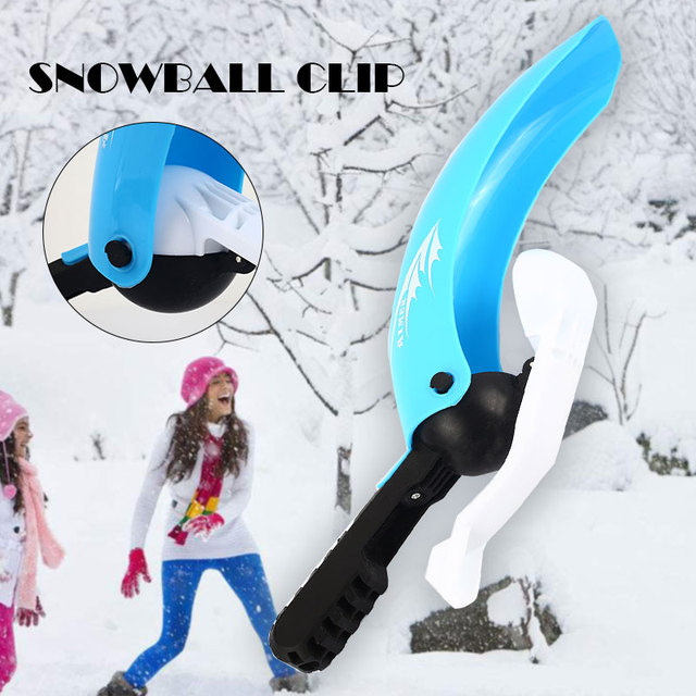 2018 Snowball Clip Plastic Throwing Snow Spoon Interesting Outdoor Fun Snowball Throw Snowball Tool Toys DropShipping