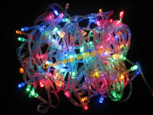 free shipping RGB100-LED Christmas/Decoration String Lights (10Meter/220V AC)