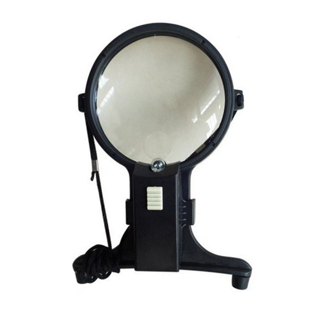 Hands Free Light  Illuminated 2x 4x hanging neck Magnifier for sewing, weaving