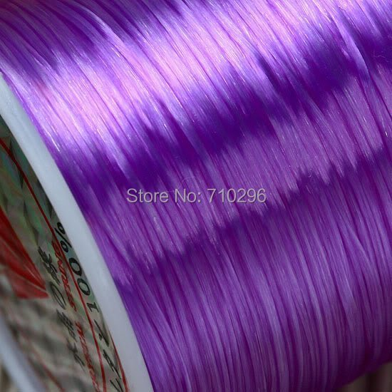 Threading materials 70 metres of strong and stretchy Purple Elastic