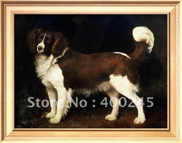 Lovely Animal oil painting dogs A Spaniel in a Landscape by George Stubbs canvas art high quality+100% handmade
