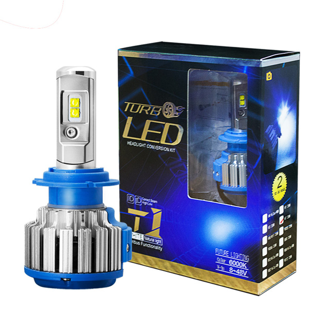 H1 H3 H7 H11 HB3 HB4 9004 H4 Hi-Lo Beam LED Car Bulb Headlamp Fog Lights 35W/bulb 8000LM CSP SMD LED Chips Auto Lighting  6000K