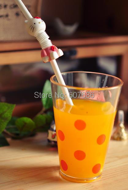 Wholesale 50 Pieces Reusable Plastic Drinking Straw 6*230mm PP Straws for Kids Children Party Flexible Drink Straw Free Shipping