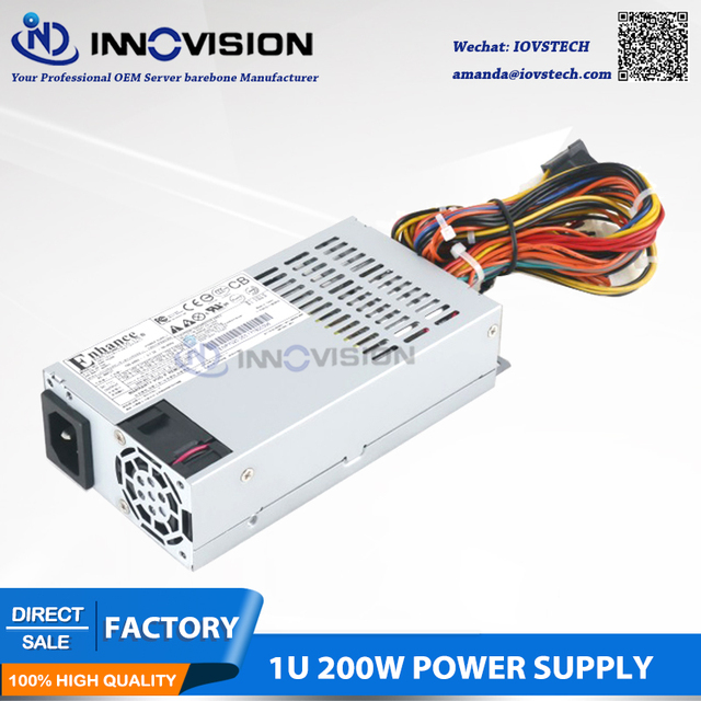 High efficiency Rated 200W industrial Power Supply P/S for 1U/TFX/Flex-ATX Form-Factor