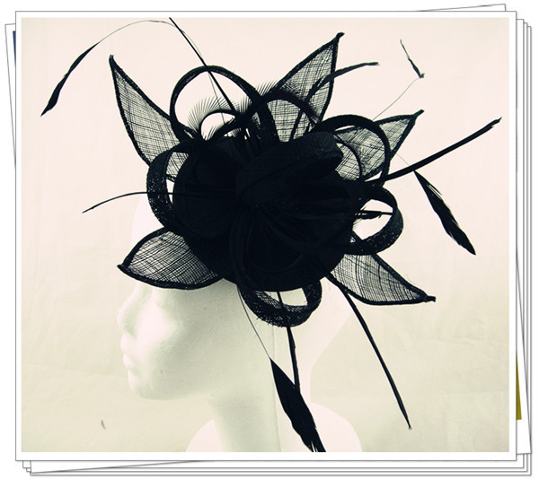 sinamay fascinator hats good bridal wedding hats cocktail hat Very nice Autumn millinery Free shipping 15 color available MSF177
