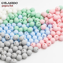 50Pcs Round Silicone Beads 12mm Perle Silicone Dentition Teething Beads For Jewelry Making Baby Products Silicone Kralen Beads