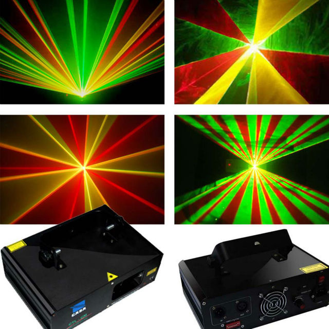 240mW RGY 3 Color Party Laser Spot Lights Stage Lighting For Dance