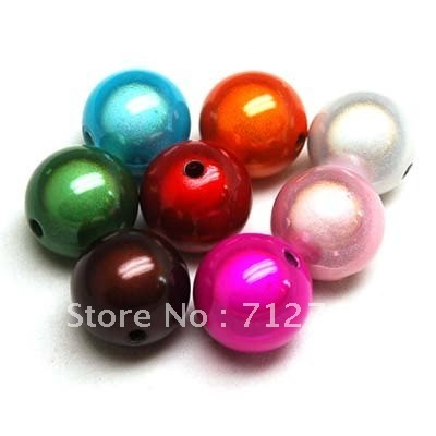 Miracle beads/perles magiques,acrylic beads,18mm round miracle beads,Mixrd Color,sold of 85 Pcs (Min Order Usd$20)