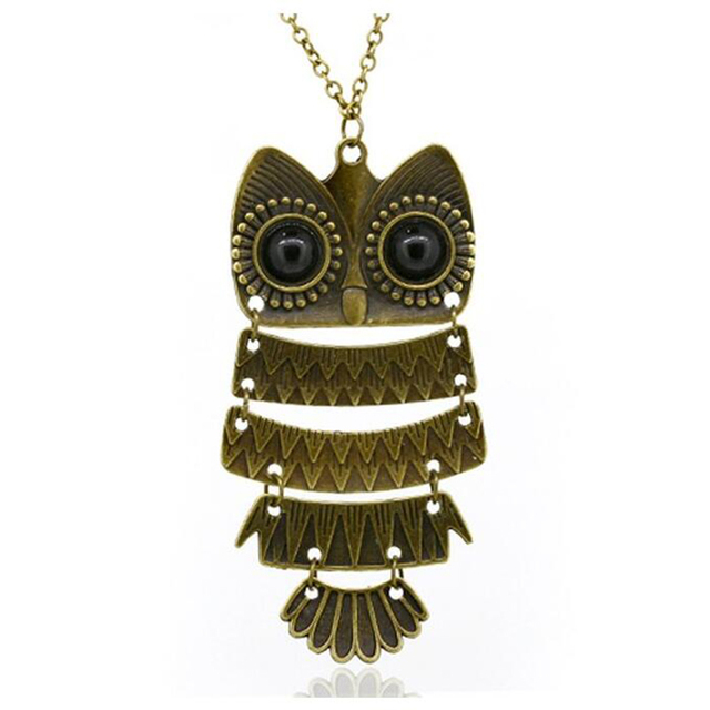 Korea Adorn Article Vintage Owl Pendants Necklace,Ancient the Owl Sweater Chain Jewelry N1177 N1176